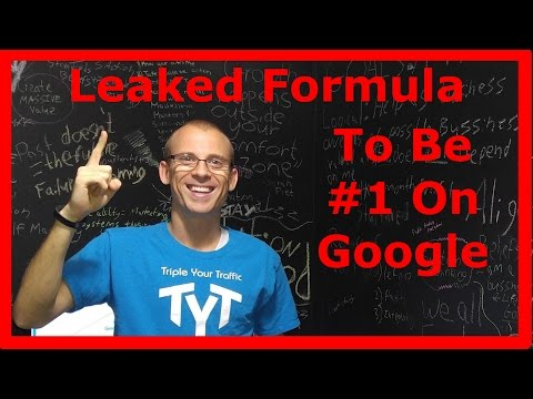 SEO Expert Leaks His Formula To Be #1 On Google (and MUCH more!)