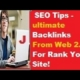 SEO Tips - Make PR web 2.0  Backlinks For Rank Your Site!(PBN)