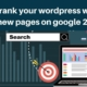 How to rank your wordpress website and new pages on google 2019 | DigitalMarketingTutorial