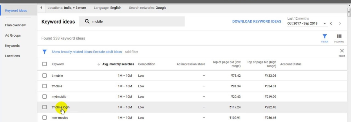 [Hindi] How to rank website on google first page with trending keyword-Google Adword