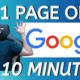 How to Easily Rank Your Local Business Website On The First Page of Google in Under 10 Minutes