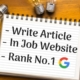 How to Write Article in Job Website and Rank no.1 in Google
