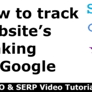 How to track website's ranking on Google?
