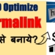 What is Website Permalink? & How to Make SEO Optimize Permalink? | Hindi