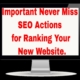 Important Never Miss SEO Actions for Ranking New Website | Digital Marketing in Tamil | Amudhakumar